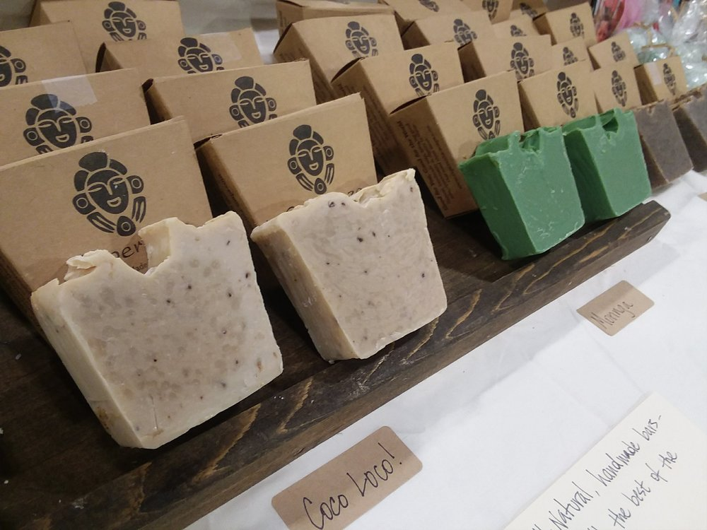 We provide a display for our soaps in your store.