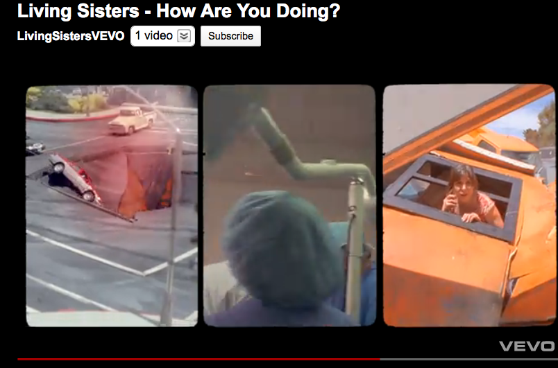 "Created miniature sets and props for the Living Sisters ""How are you doing?"" music video by Michel Gondry."