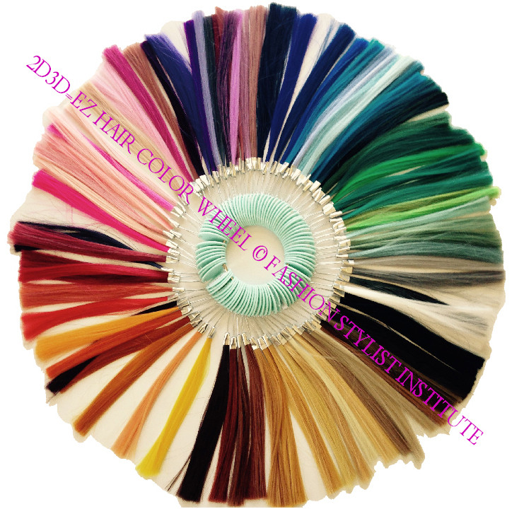 2d3d Ez Hair Color Wheel Hair Swatch With Guide Fashion Stylist