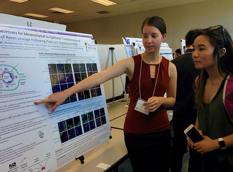 - Andrea Largent discussing her research20th Annual Undergraduate Research Symposium