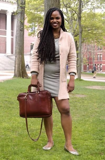 """It's hard being a black woman -- they literally don't accept the way we're made, you know? After graduating, there was this whole thing where I felt pressured to start working in the corporate world. I work for the professional development programs at Harvard and there's a certain way of dressing. They have a strict [dress] code and I decided to get dreads. People were like, 'oh, people with dreads are nasty and they don't wash their hair.' Well, being a black woman, I wash my hair twice a month. I don't need all that extra washing. I decided to go ahead with it and everyone loves it. Being confident in yourself and knowing what's best for you, goes a long way."""