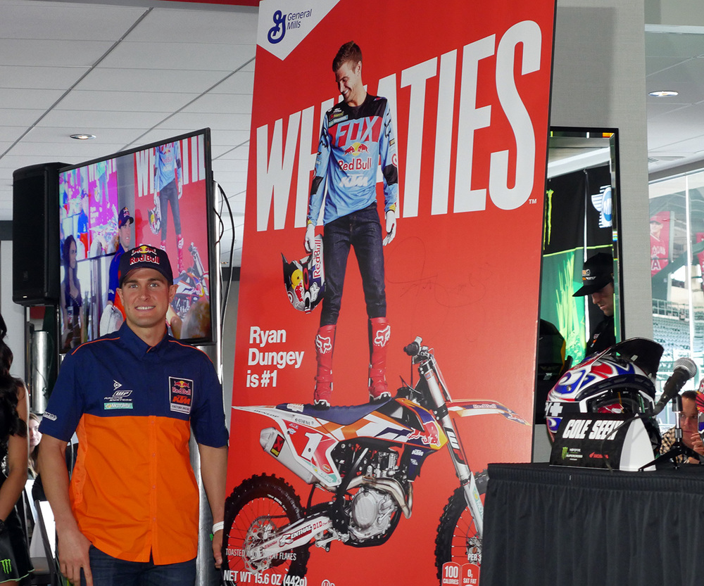Ryan Dungey, Supercross Champion, now on Wheaties Cereal Box