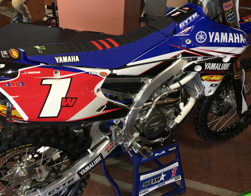 Cooper Webb's 250 West Championship winning motorcycle