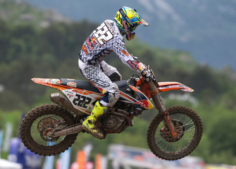 Tony Cairoli in Trentino, Italy. Photo KTM / R. Archer
