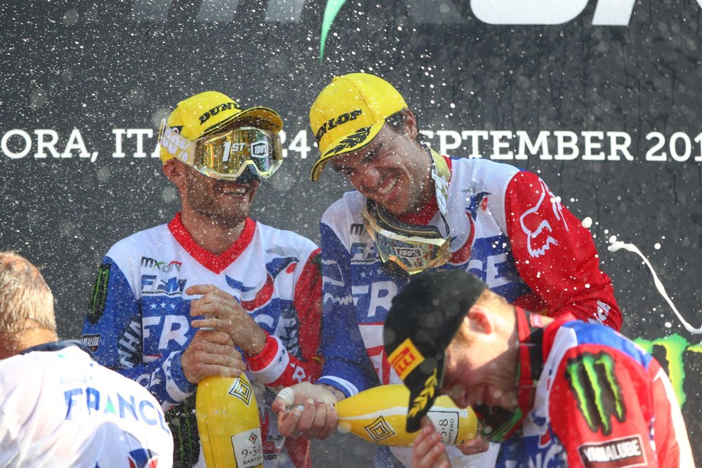 Frenchmen Benoit Paturel, Gautier Paulin, Romain Febvre : : 2016 FIM Motocross of Nations Champs