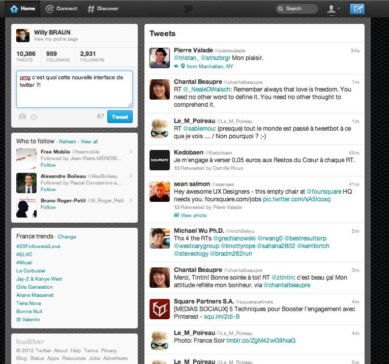 #omg c'est quoi cette nouvelle interface de #twitter ?!
