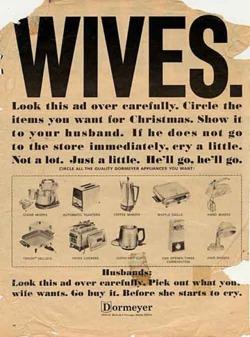 #Pub sexiste bien old school, bien scandaleuse aujourd'hui.