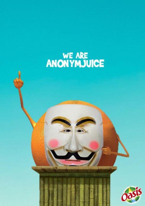 Anonymous on en parle beaucoup, on lit souvent pareil, mais heureusement le web n'est pas toujours dévasté par la  pensée unique . #humour #sauveur