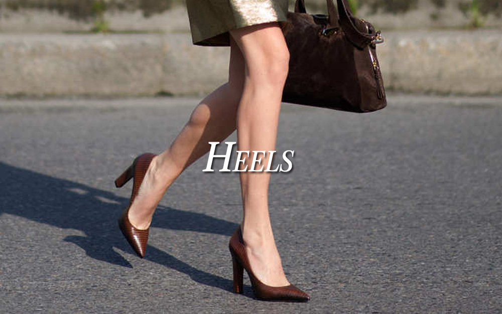 High heels are a must and we have a great collection of stiletto and kitten heeled pumps. Better yet, we have over twenty-two colors and fabrics to choose from to ensure you get just what you are looking for.