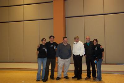 From UNIV-CON 2003 (PRS' annual paranormal conference).  Taken October 2003.  Irina, myself, the late Lou Gentile, the late George Lutz, John Zaffis and Sarah.