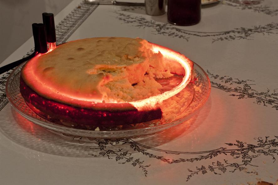 Neon Cake (victoria sponge & neon)