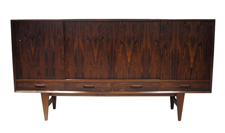 Danish Sideboard Credenza : Danish rosewood sideboard credenza with bar u2014 chris howard antiques