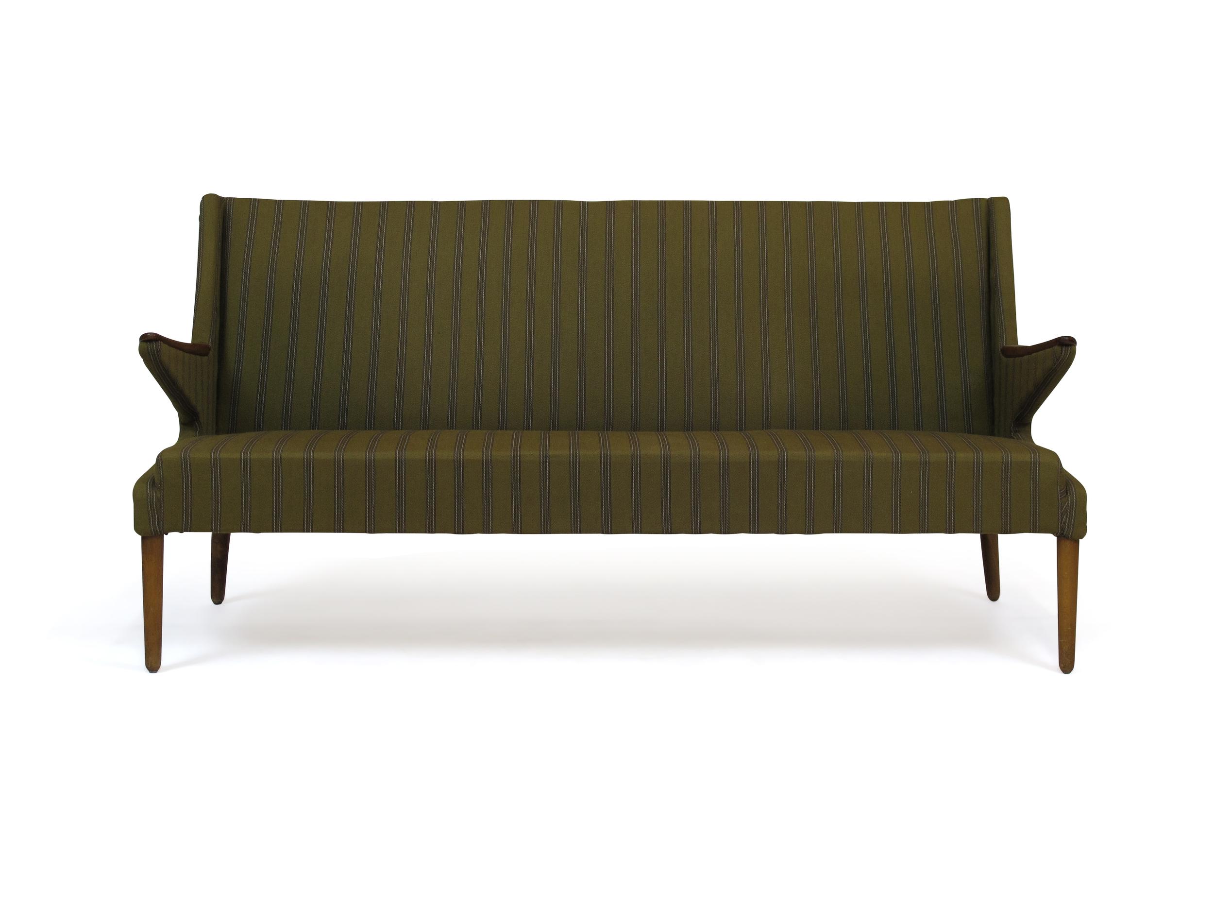 1960\'s Sofa Green Fabric — Chris Howard Antiques & Modern