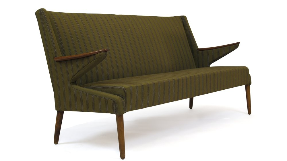 Merveilleux 1960u0027s Sofa Green Fabric ...