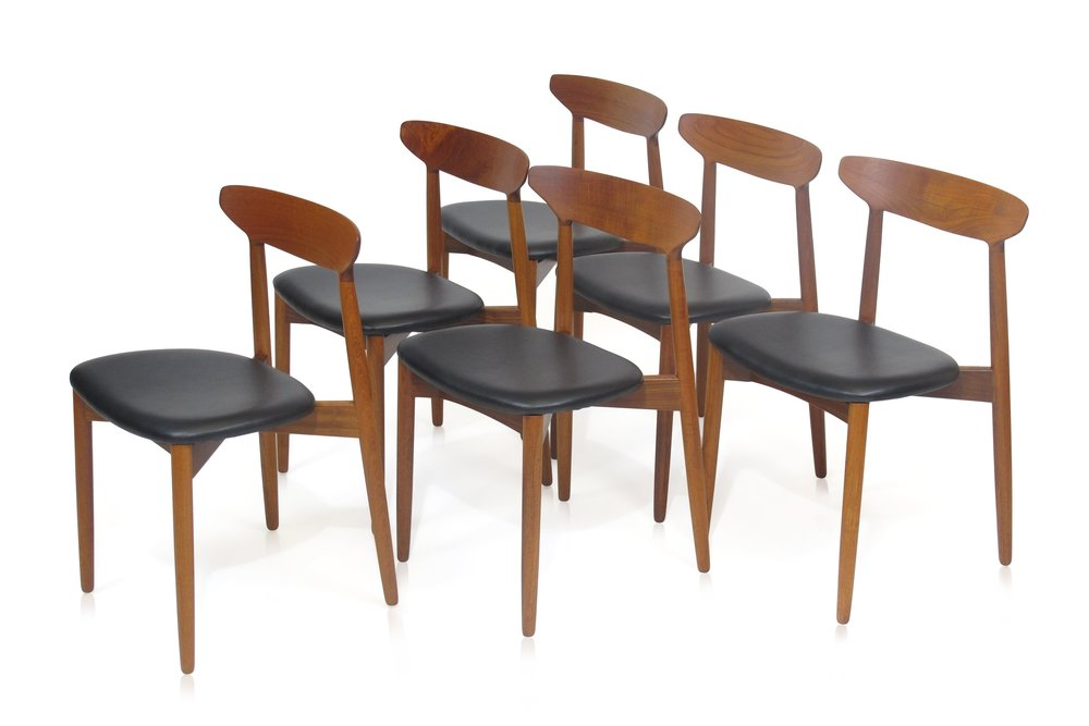 Ostergaard, Danish, Teak, Dining Chairs, Midcentury, Furniture, Berkeley,  ...
