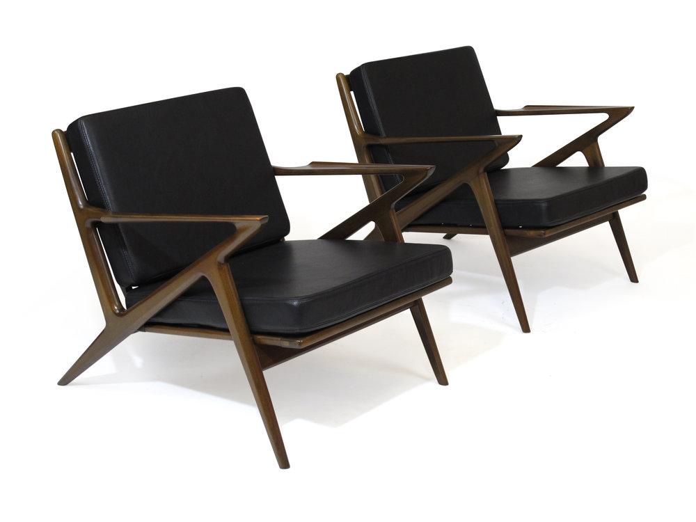 Pair Of Authentic Selig U0027Zu0027 Lounge Chairs By Poul Jensen U2014 Antiques U0026 Modern