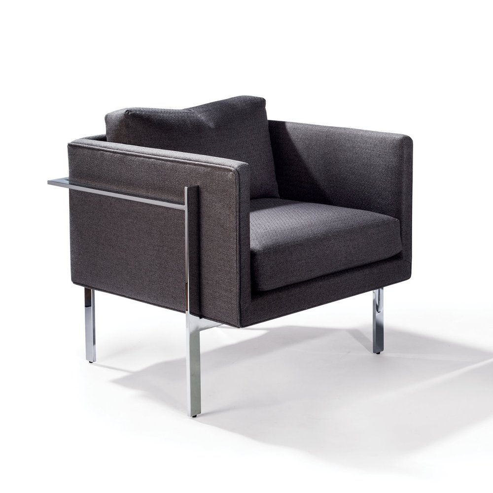 Drop In Lounge Chairs By Milo Baughman For Thayer Coggin