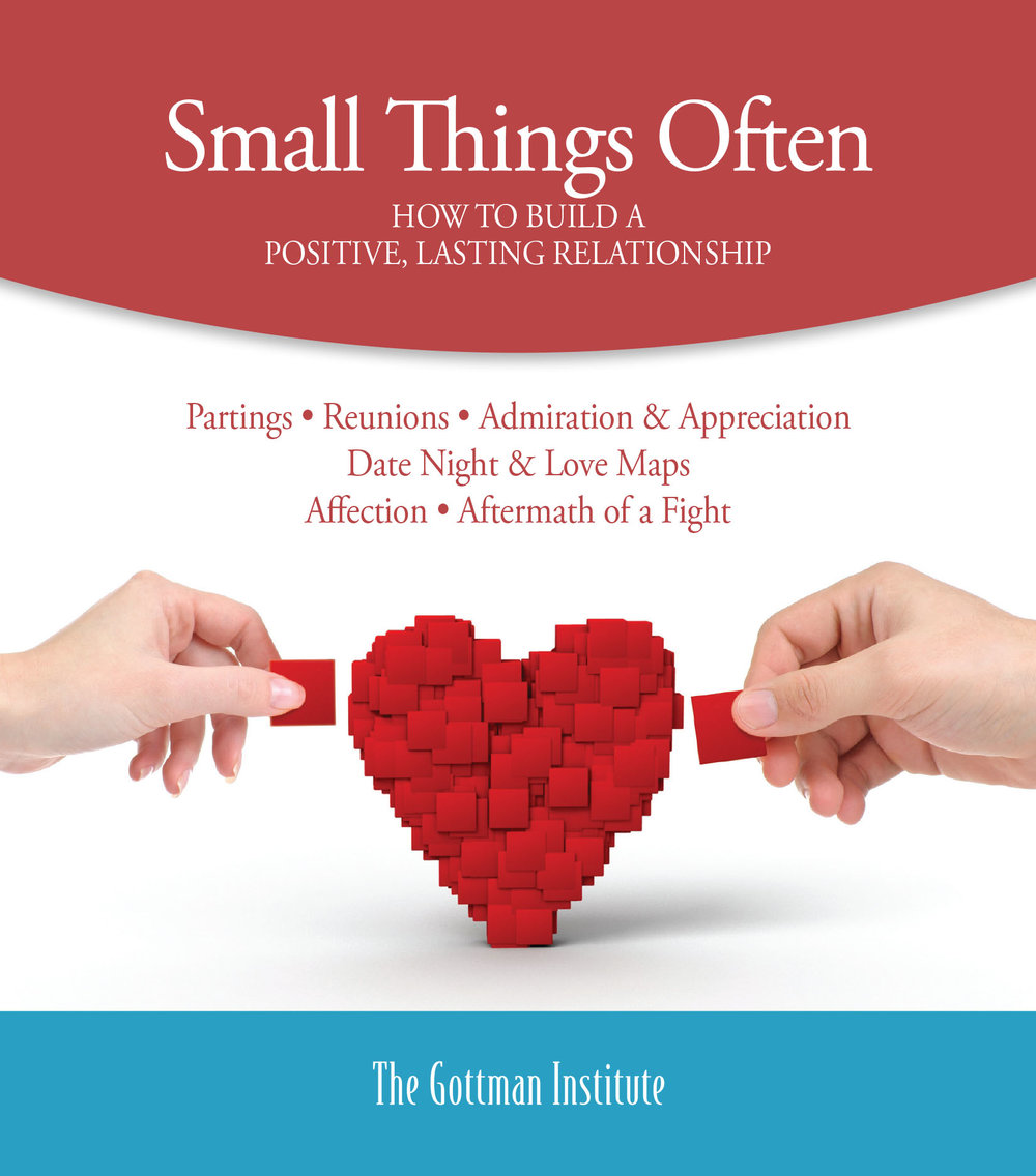 """Small Things Often - Making regular """"deposits"""" into your """"emotional bank account"""" helps to build a positive, lasting relationship. Click on image for PDF."""
