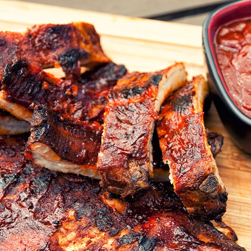 Texas-Style Pork Ribs - [By Paleo Leap]This is my go-to rib recipe without a doubt. The spice rub gives them a wonderfully crispy outer layer and the sauce is the perfect balance of tangy and sweet.