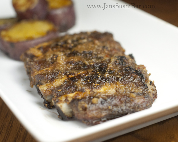 Grilled Spare Ribs With Fig Orange Glaze - [By Jan's Sushi Bar]If you're interested in a non-traditional rib recipe, look no further. Figs and oranges are combined with honey, balsamic, and herbs to make an incredible glaze for these tasty ribs.