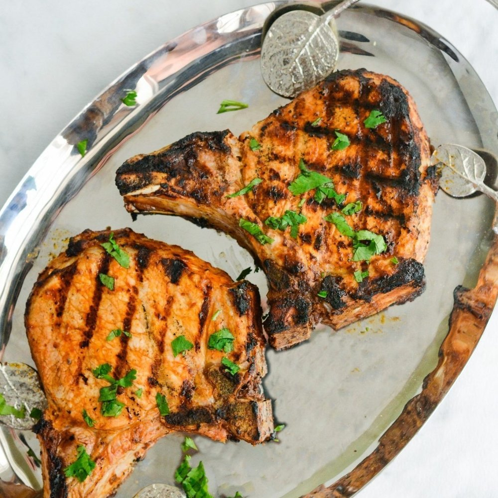 Chipotle Lime Grilled Pork Chops - [By A Healthy Life For Me]These pork chops come out exceedingly juicy and tender after being tenderized by tangy lime juice.