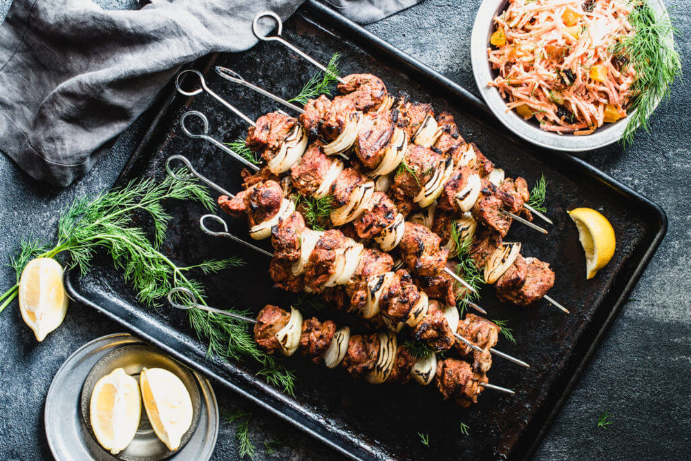 Lamb Kebabs - [By Stupid Easy Paleo]Meat on a stick, cooked over an open flame - what more could you want? These kebabs are tenderized using sparkling water and then covered in garlic and herbs for a truly delicious kebab.