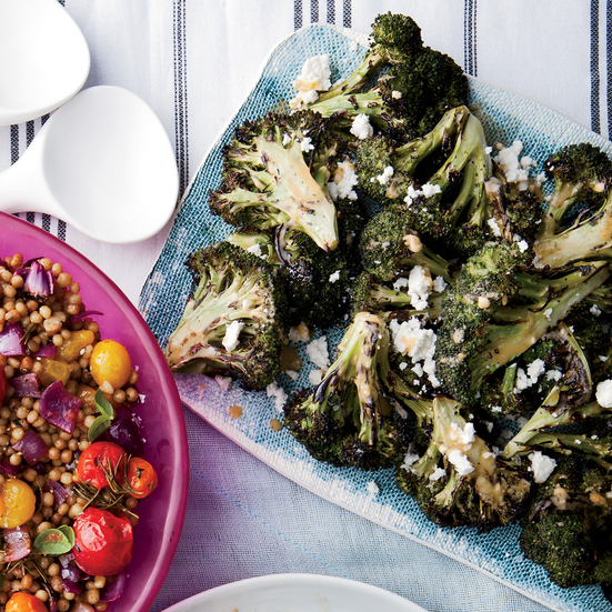 Grilled Broccoli With Chipotle-Lime Butter - [By Food & Wine]Never tried grilling broccoli? You've been missing out! The grill gives it a wonderful char that's balanced out by a sweet and tangy lime butter.