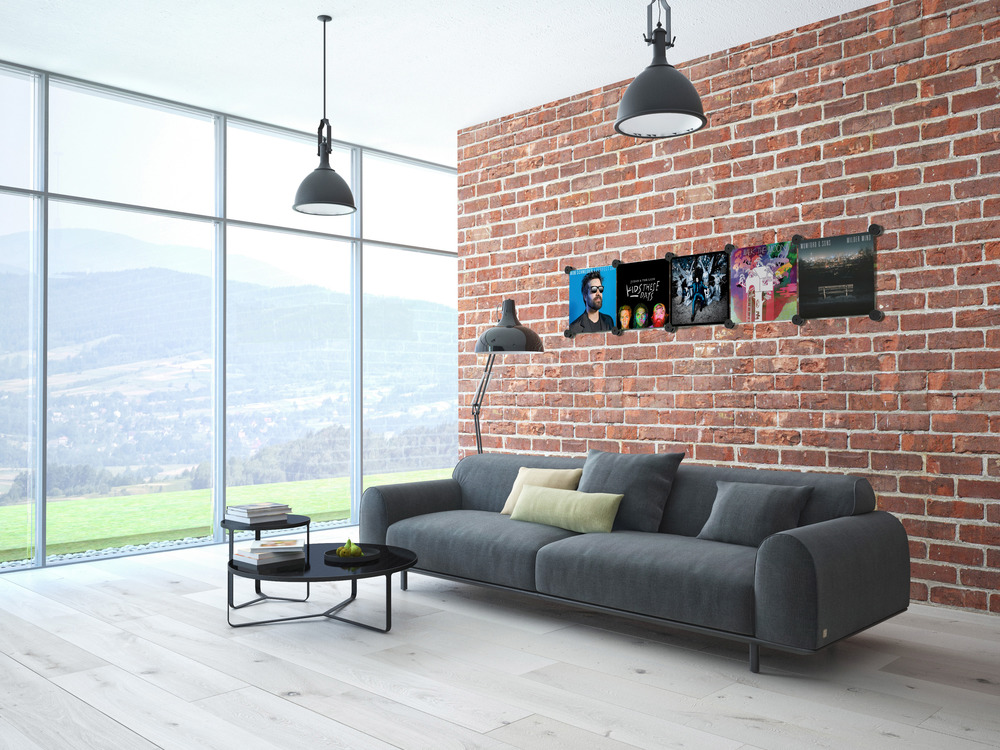 Hanging Records On Wall q