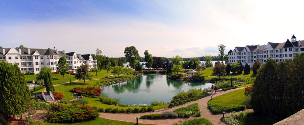 The historic Osthoff Resort, Elkhart Lake Wisconsin   ©Joanne DiBona