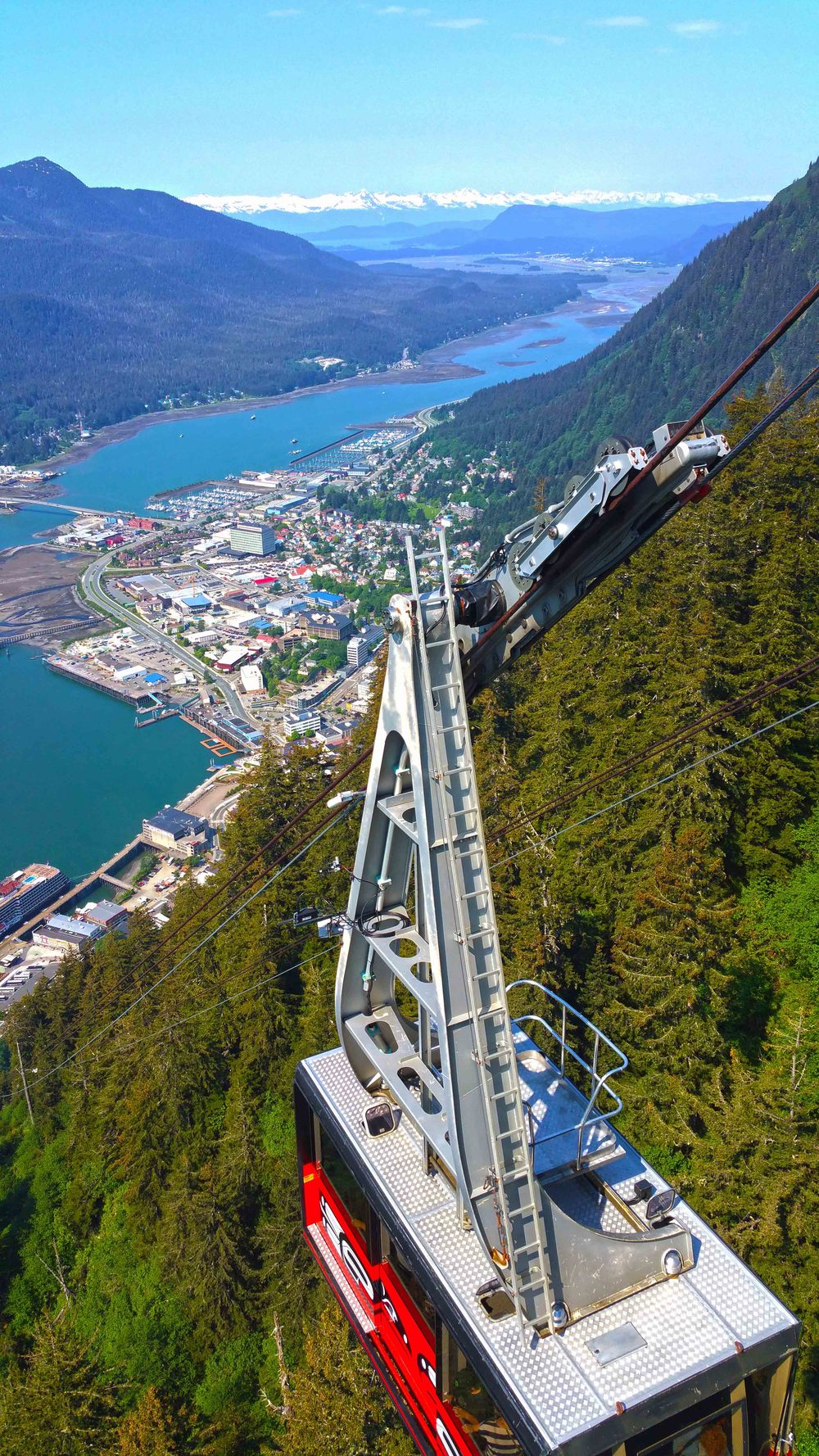 The beautiful city of Juneau Alaska as seen from Mount Roberts Tramway © Joanne DiBona