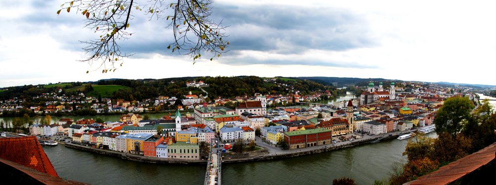 Panorama of Passau, Germany   © Joanne DiBona