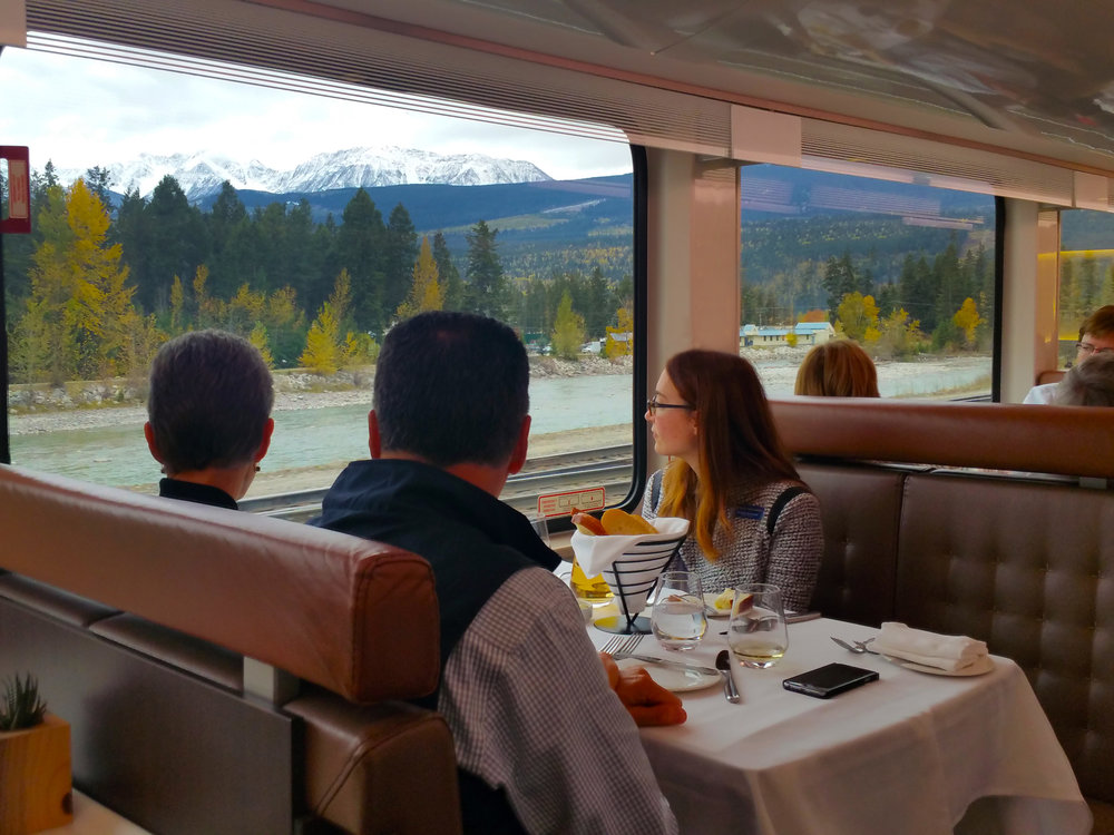It's hard to keep your eyes on your gourmet lunch when the splendor of the Canadian Rockies keeps attracting your undivided attention! © Joanne DiBona Photography