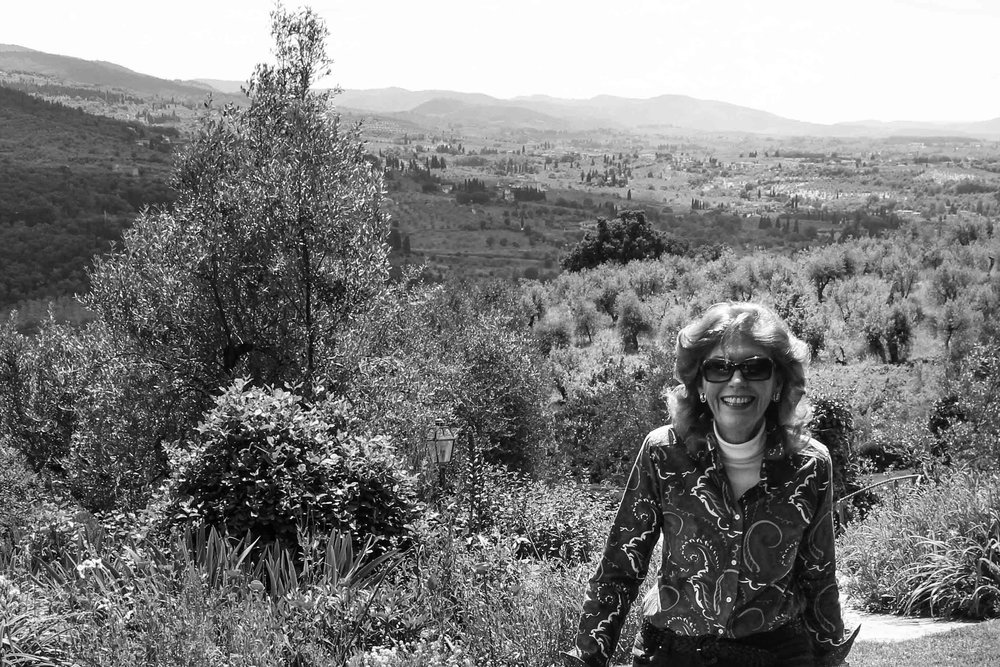 Carol Biagiotti at her estate in Florence, Italy