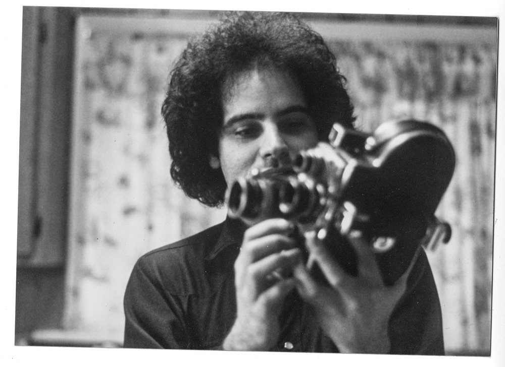 Poe with Super8, circa 1975   © The Fales Library & Special Collections