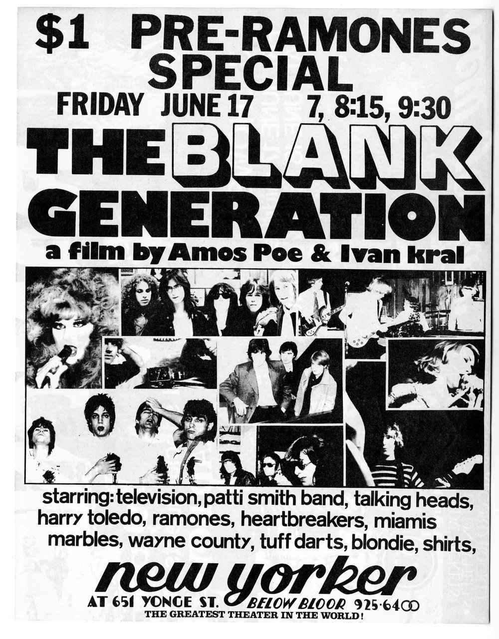 """The Blank Generation"" movie poster © The Fales Library & Special Collections"