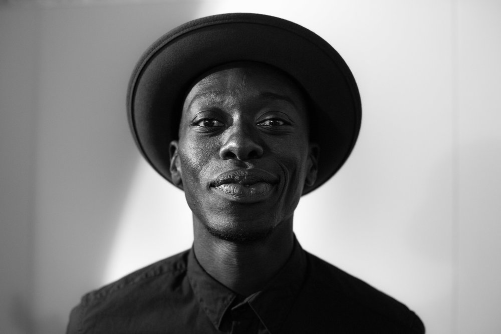Omar Victor Diop at the opening of ReSignifications, May 2015