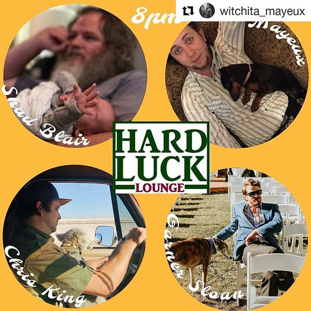 #Repost @witchita_mayeux (@get_repost) ・・・ Kids and dogs, watermelon wine. Tonight at @hardluckloungeatx with some my best buds. 8-10:30pm rain go away.