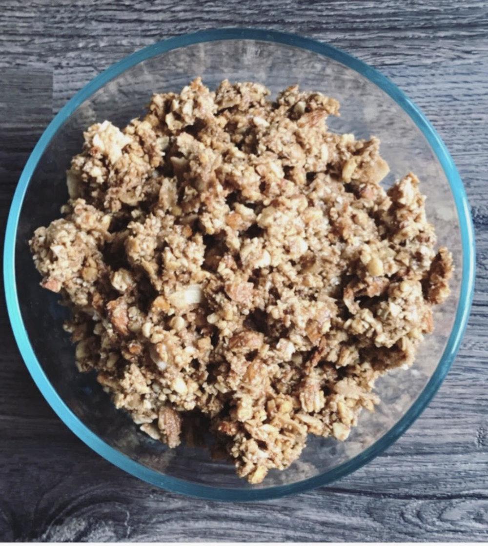 Grain Free Honey Coconut Granola bowl