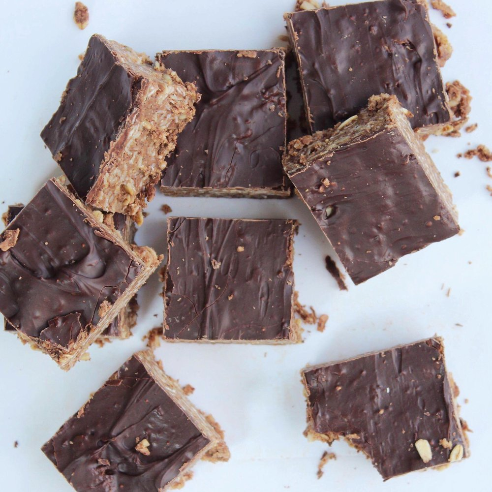 no bake coconut chocolate bars