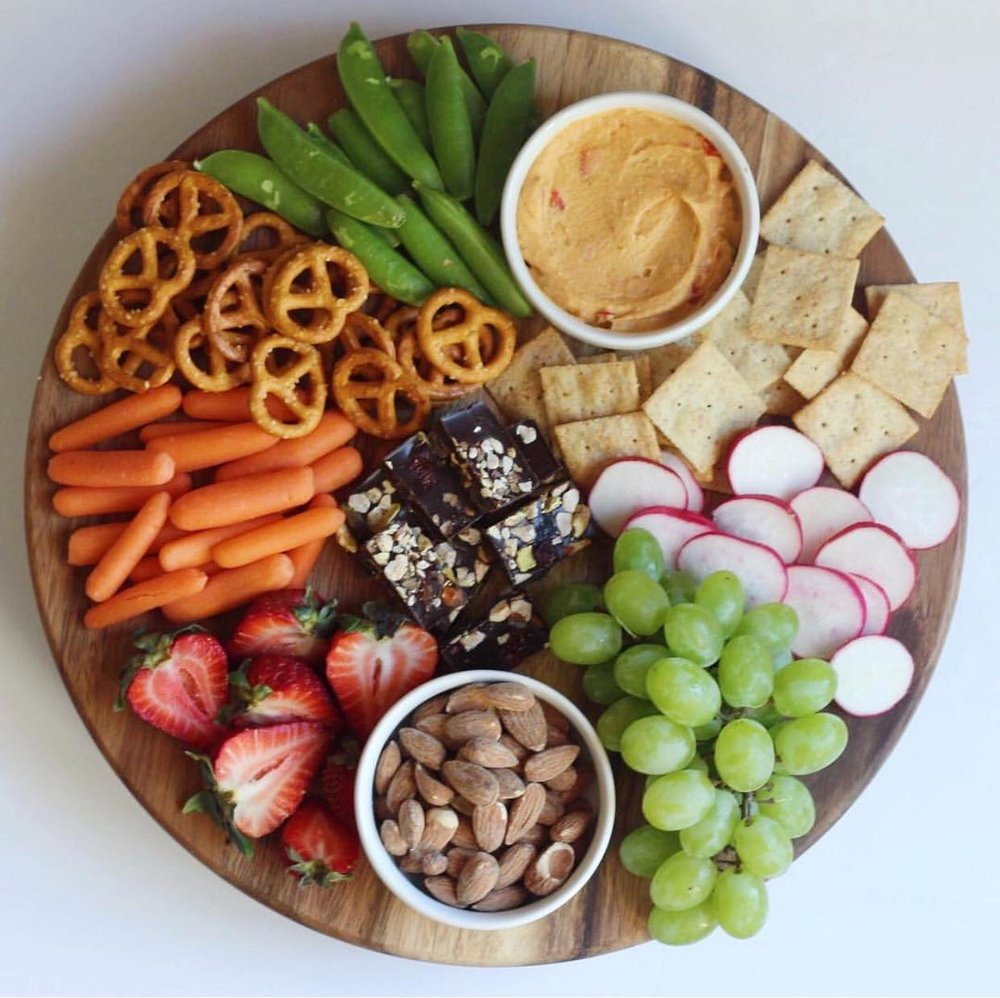 Girl's love when I make snack boards that are loaded with all the goods!