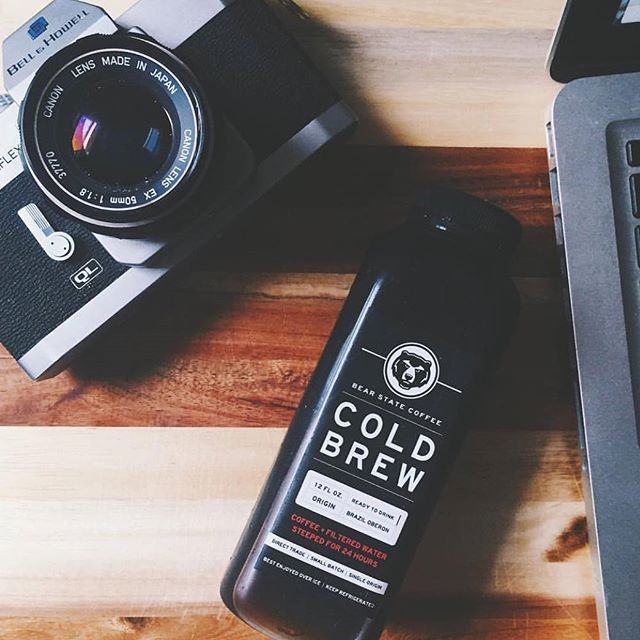 @photocait powering through her days with our home delivered cold brew! 😏