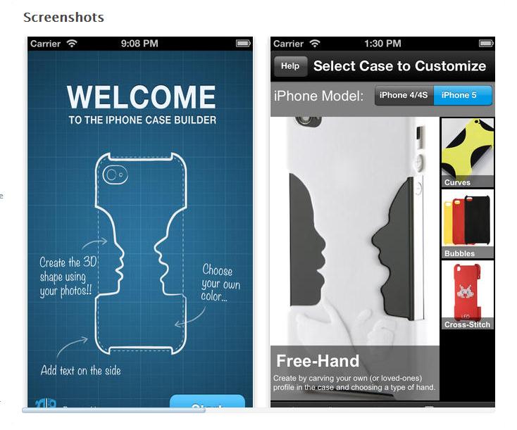 3DPCase App. Source: 3DPCase App