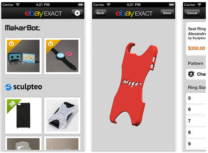 eBay Exact app screenshot. Source: eBay