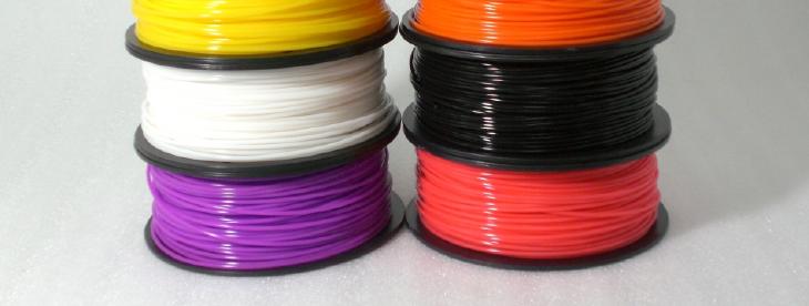 3D printer filament. Source: Maker SHED