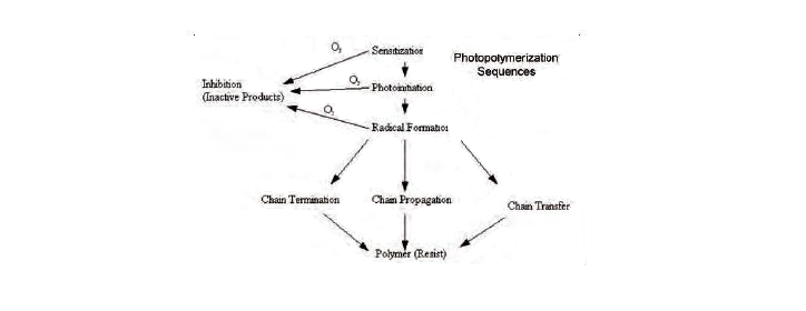 Photopolymerization diagram