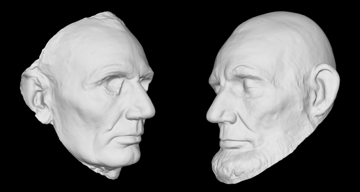 3D model of Abraham Lincoln. Source: Smithsonian