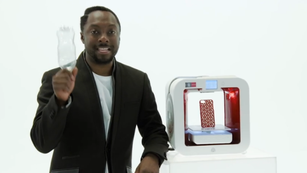 EKOCYLCE 3D printer and will.i.am. Source: 3D Systems