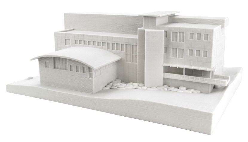 3D printed architectural model. Source: WhiteClouds