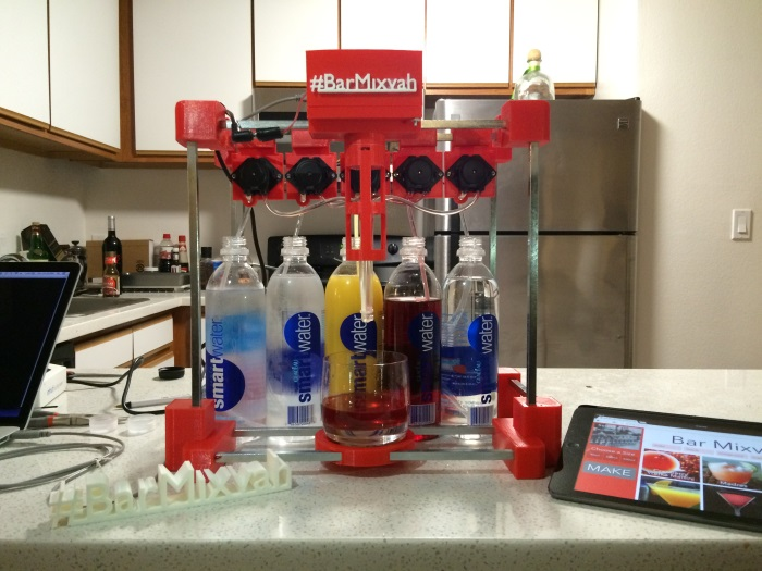 3D printed cocktail drink maker, Bar Mixvah. Source: Yu Jiang Tham