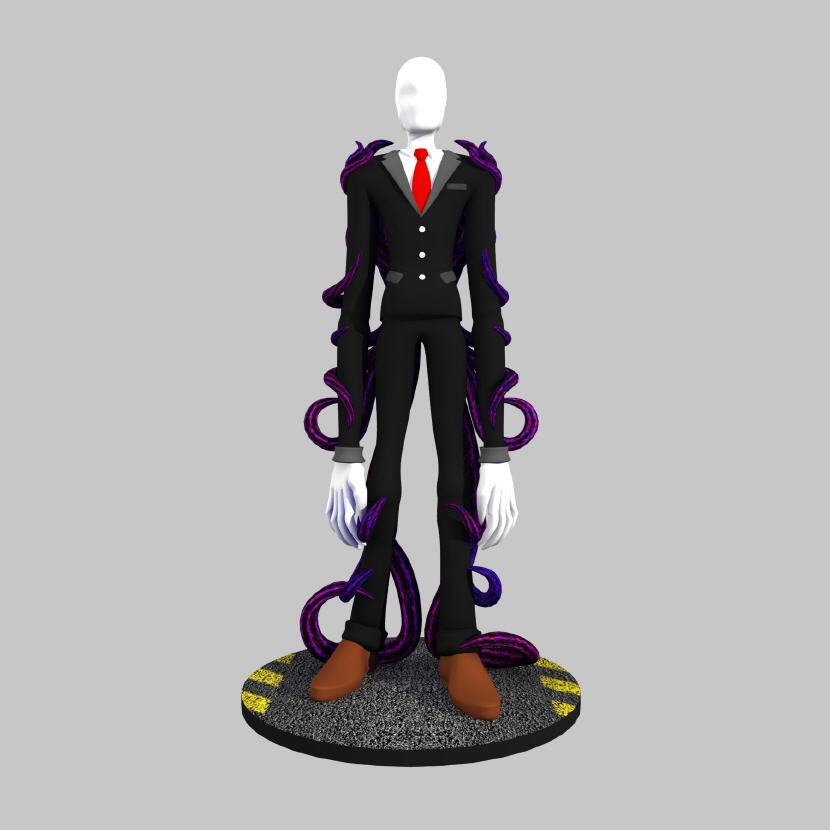 3D Printed Slender Man Figurine. Source: WhiteClouds